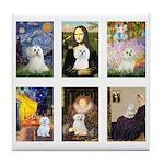 Maltese Famous Art (clr) Tile Coaster