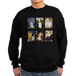Maltese Famous Art (clr) Sweatshirt (dark)
