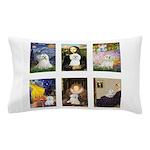 Maltese Famous Art (clr) Pillow Case
