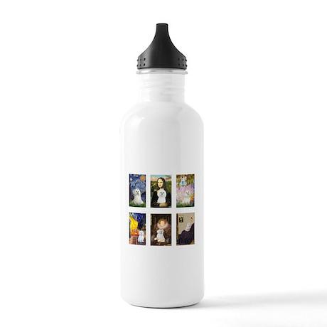 Maltese Famous Art (clr) Stainless Water Bottle 1.