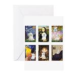 Maltese Famous Art (clr) Greeting Cards (Pk of 20)