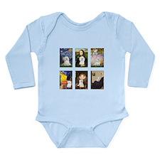 Maltese Famous Art (clr) Long Sleeve Infant Bodysu