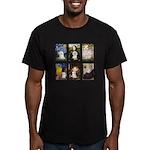 Maltese Famous Art (clr) Men's Fitted T-Shirt (dar