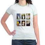 Maltese Famous Art (clr) Jr. Ringer T-Shirt