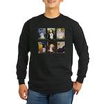 Maltese Famous Art (clr) Long Sleeve Dark T-Shirt