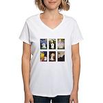 Maltese Famous Art (clr) Women's V-Neck T-Shirt