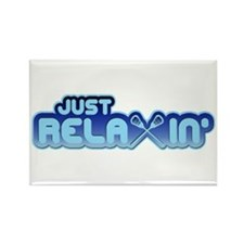 Lacrosse Just ReLAXin' Rectangle Magnet