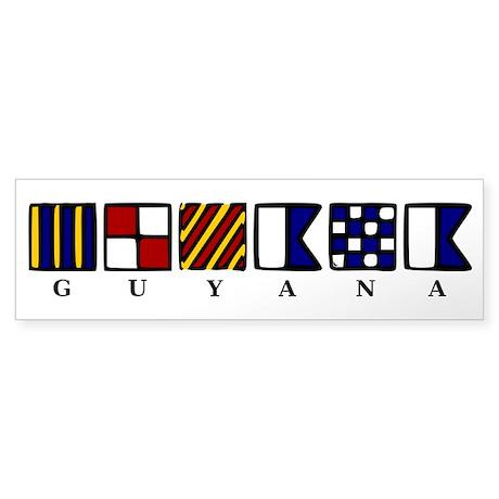 Nautical Guyana Sticker (Bumper)