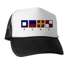 Nautical Peru Trucker Hat