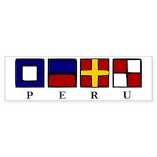 Nautical Peru Bumper Sticker