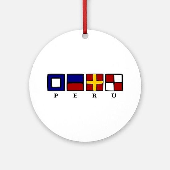 Nautical Peru Ornament (Round)