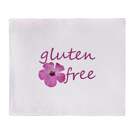 gluten-free hibiscus Throw Blanket