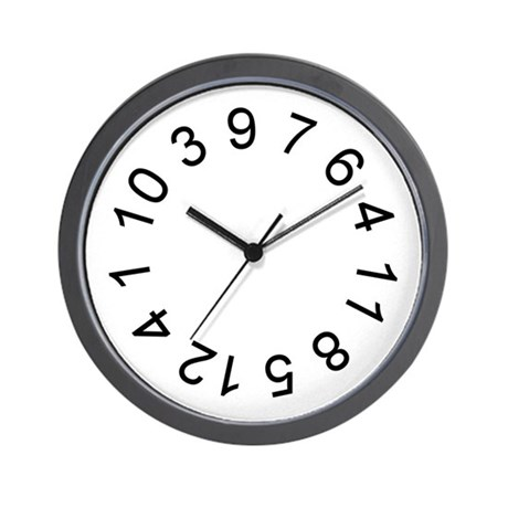 Crazy Numbers Wall Clock By Crazynumbers