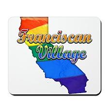 Franciscan Village, California. Gay Pride Mousepad