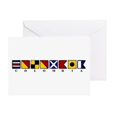 Nautical Colombia Greeting Card