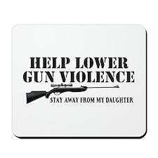 Dad's Gun Violence Mousepad