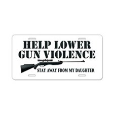 Dad's Gun Violence Aluminum License Plate