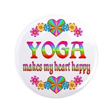 """Yoga Happy 3.5"""" Button (100 pack)"""