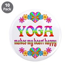 """Yoga Happy 3.5"""" Button (10 pack)"""
