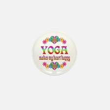 Yoga Happy Mini Button (100 pack)