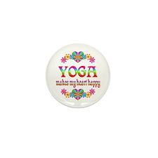 Yoga Happy Mini Button (10 pack)