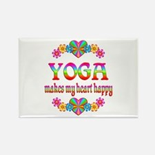 Yoga Happy Rectangle Magnet (100 pack)