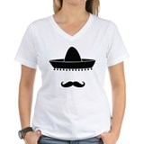 Mexican Womens V-Neck T-shirts