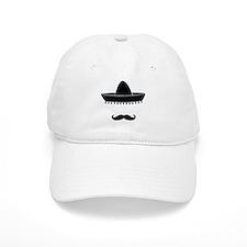 Mexican moustache Baseball Cap