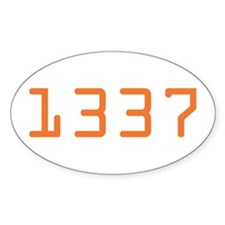 1337 Oval Decal