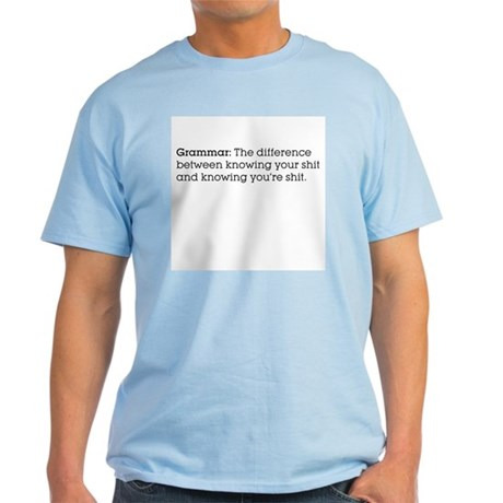 Grammar: The difference... Colored Tee