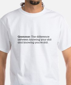 Grammar: The difference... White Tee