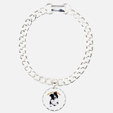border collie Charm Bracelet, One Charm
