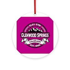 Glenwood Springs Raspberry Ornament (Round)