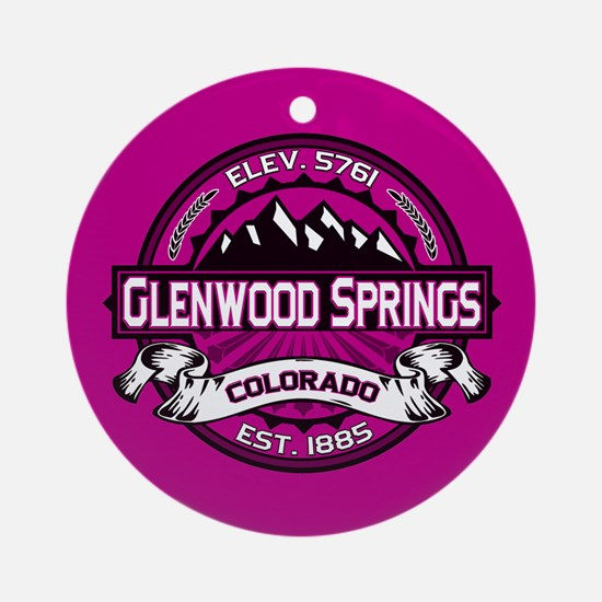 Glenwood Springs Raspberry Ornament (Round)