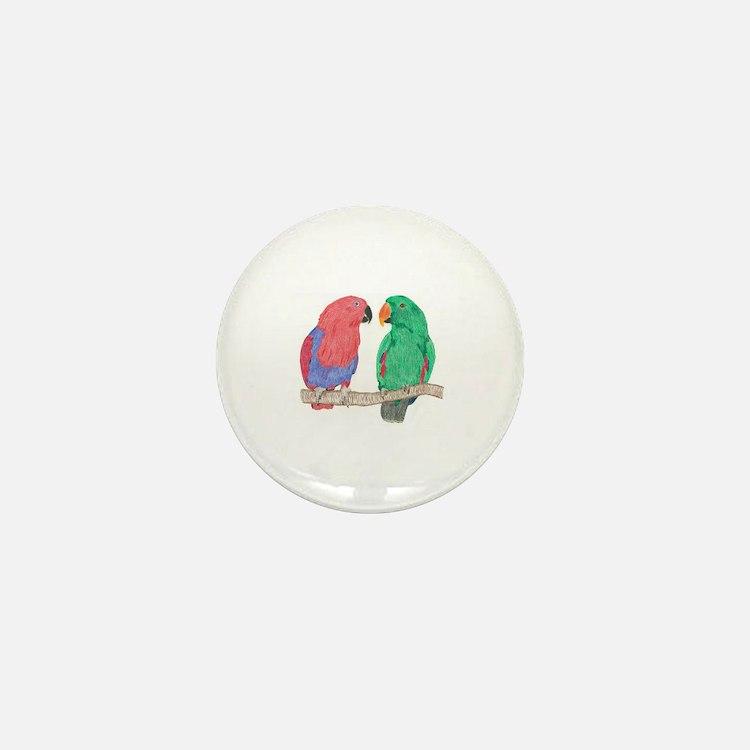 Cute Parrots Mini Button