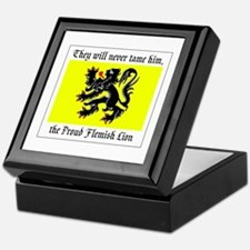 Proud Flemish Lion Keepsake Box