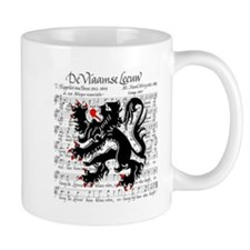 Flemish Lion Sheet Music Mug
