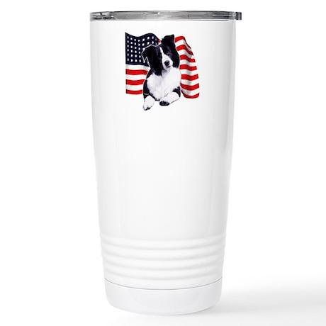 border collie Stainless Steel Travel Mug