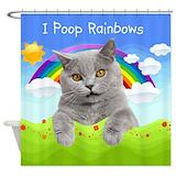 Cat shower curtain Bathroom Décor