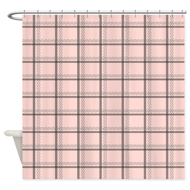 pink plaid shower curtain by bestshowercurtains