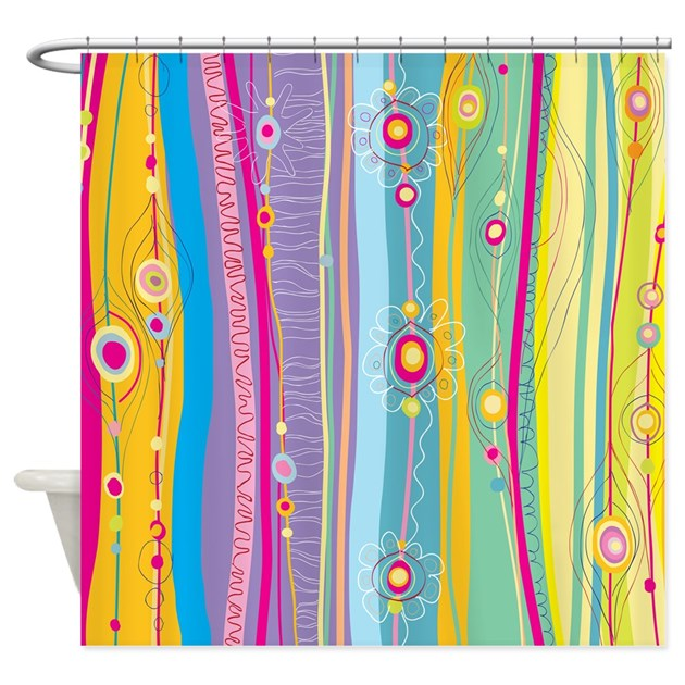Funky Kitchen Curtains: Funky Stripes Shower Curtain By BestShowerCurtains