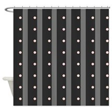 Black, Pink, Gray Shower Curtain