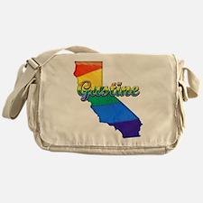 Gustine, California. Gay Pride Messenger Bag