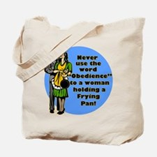 Obedience Retro 50's Humor Tote Bag