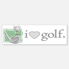 I Love Golf Gear Bumper Bumper Bumper Sticker