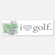 I Love Golf Gear Bumper Car Car Sticker