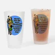 Obedience Retro 50's Humor Drinking Glass