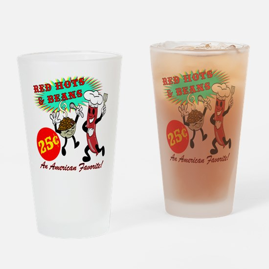 Red Hots Retro 50' Diner Drinking Glass