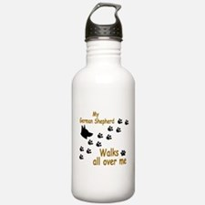 GSD Paw Print Water Bottle