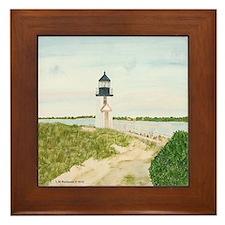 Path to Brant Point Light Framed Tile
